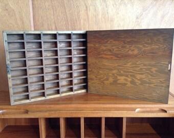 Vintage Letterpress Wood Box