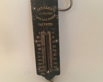 Vintage Chatillon's Packaging Scale, Merchant Scale, Inudstrial, Mancave, Vintage Workshop