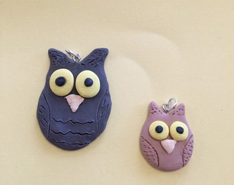 Owl necklace charm