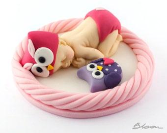 Baby Owl Cake Topper | Fondant Baby Owl | Owl Baby Shower | Cake Toppers | Baby Owl Cake Toppers |