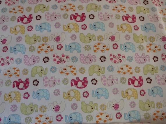 Jumbos elephants children 39 s nursery fabric 100 for Childrens elephant fabric