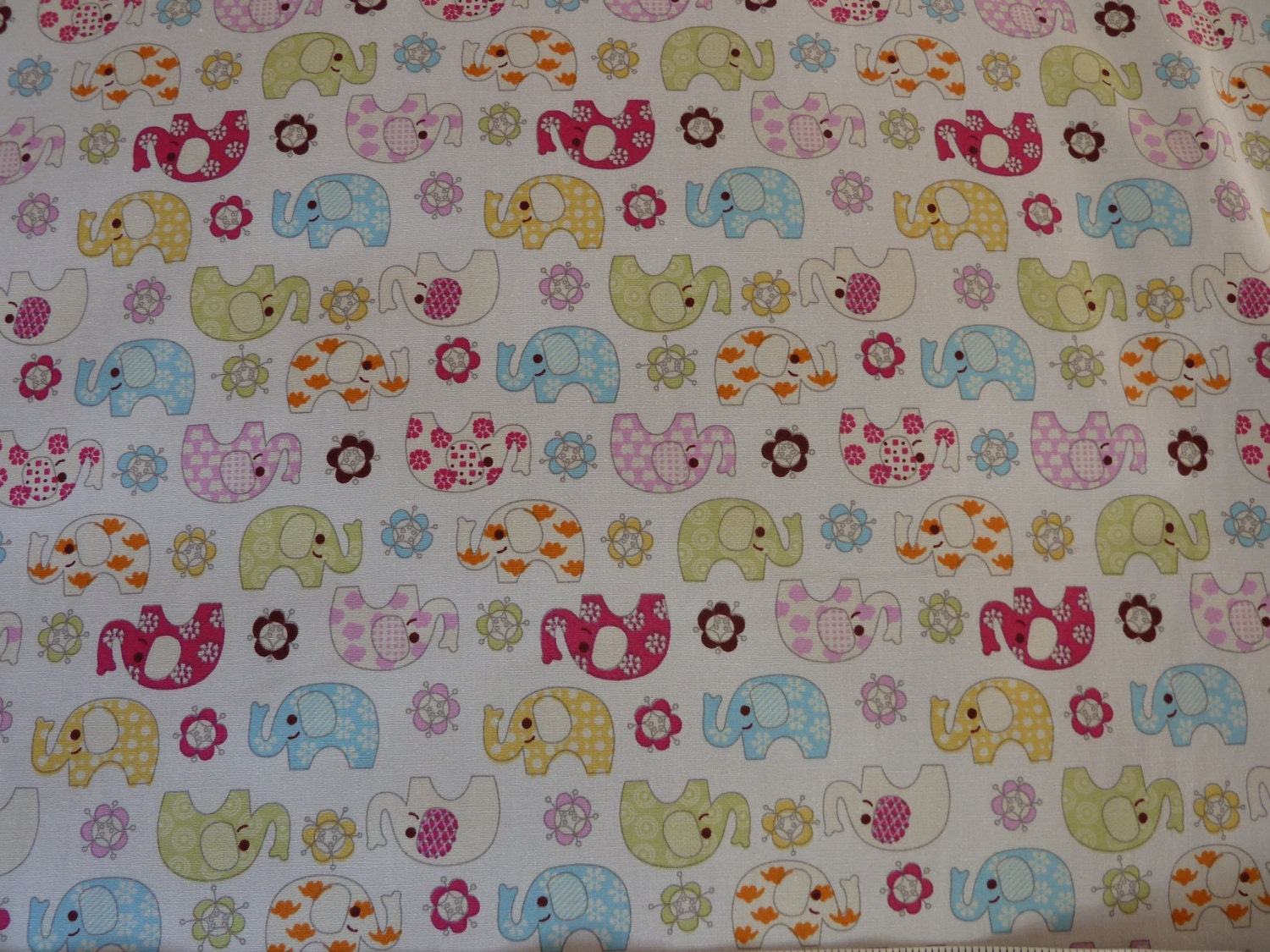 Jumbos elephants children 39 s nursery fabric 100 for Children s furnishing fabrics