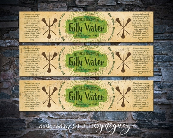 Harry Potter Gilly Water Printable Water Bottle by StudioYniguez