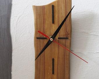 Small Wood Wall Clock, Reclaimed Wood Clock, Husband Gift, Rustic Home Decor, Log Decor
