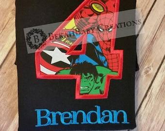 Avenger shirt *Captain America, Hulk, Iron man