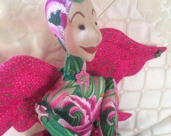 Angel Belle, Cloth Doll, 100% cotton quality patchwork fabrics.
