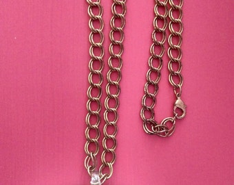"""24"""" Gold Murano Glass Style Heart Necklace"""