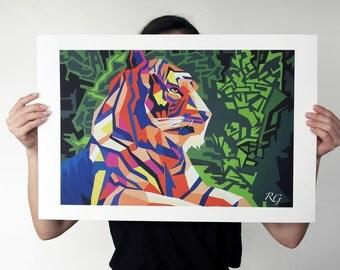 Tiger print - 60 x 40 cm - fine art print