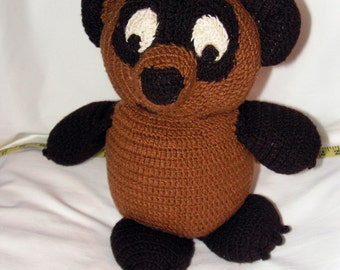 Crochet knit Bear - Winnie Pooh - baby toy eco-friendly baby gift organic cotton toy kids gift