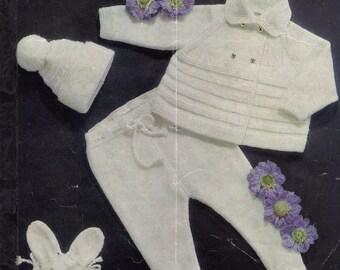 Marriner Vintage Knitting Pattern,  Pram Set knitting Pattern, Pram set pattern, Marriner 1239