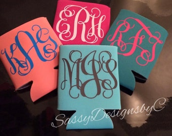 Monogrammed~Personalized~Customized~Can Coolers/Beverage Insulators