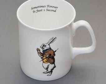 Alice In Wonderland Bone China Mug - The White Rabbit