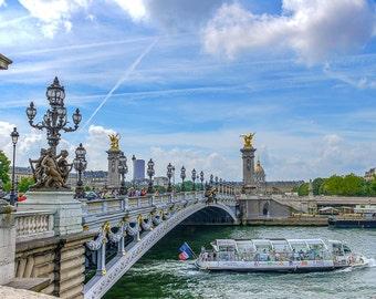 Pont Alexandre III, Paris photography, paris decor, digital wall art, digital print, instant download, printable art, wall decor, home decor