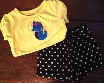 Girls Seahorse shirt