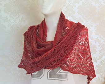 Summerly, scarf, shawl, reds