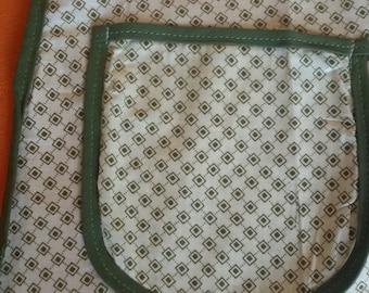 Vintage half apron, retro apron,