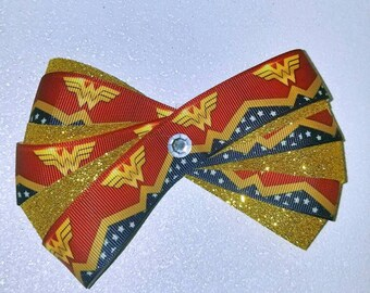 Wonder Woman Superhero hair Acessory, Gift for her, comic con, Haloween, holiday hair accessory