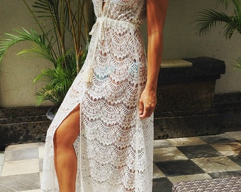 CALISTA- Lace embellished maxi