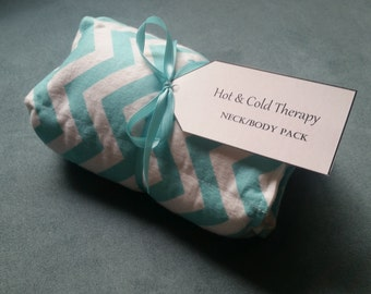 Hot & Cold Therapy Rice Pack - Chevron (flannel)