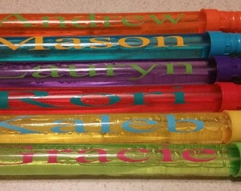 Personalized Bubble Wands