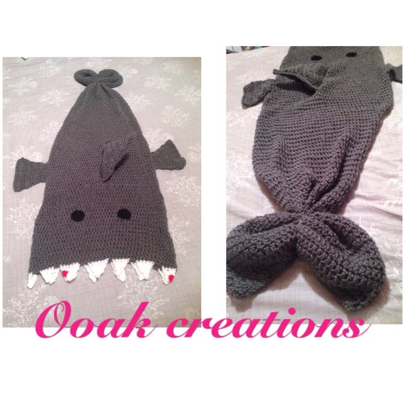Knitting Pattern Shark Sleeping Bag : Shark blanket coccon sleeping bag