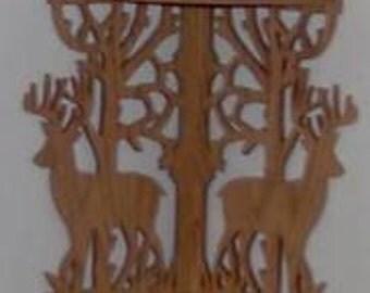 Custom Handmade Deer Corner Shelf