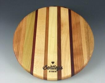 Round Hardwood Cheese Board