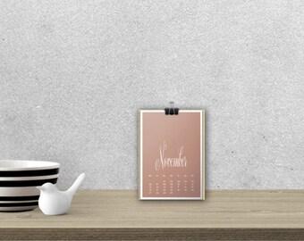 Desk Calendar 'DELICATA', planar // A5