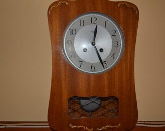 Vintage 1960's Mechanical Wall Clock.Brand: WESTERSTRANDS - SWEDEN
