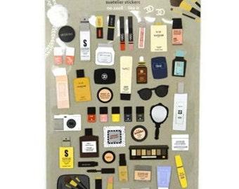 Makeup Stickers, Planner Stickers, Erin Condren, Life Planner, Happy Planner, Planner, Stickers, ECLP, ECLP Stickers, EC Stickers, Agenda