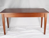 Solid mahogany coffee table end table shaker style coffee table retro table wood table rustic handmade table bespoke coffee table