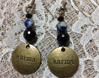 Karma Onyx Earrings