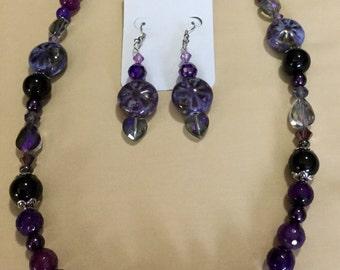 La'Faye Regal Designs by Dana Black & Purple Necklace Set