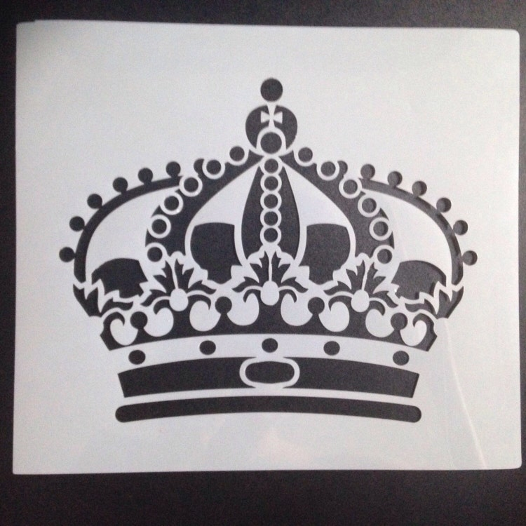 painting stencil Royal Crown suits for shabby chic by ...