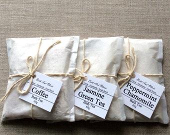 Set of 3 Bath Tea Set, tub teas, Bath Tea Gift Set, bath gift set, bath tea, Bridesmaid gift, gifts for her, spa gift set