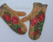 Wonderful  felted  mittens from soft merino wool , ready to send