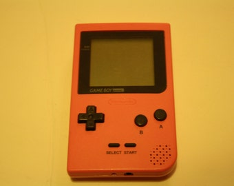 Rare Pink Nintendo Gameboy pocket with new screen