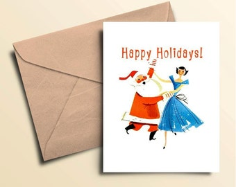 Santa Dance Holiday Cards – Boxed Set of 10 With Envelopes