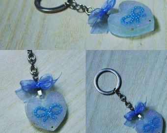 portichiavi sweetheart white with blue bow