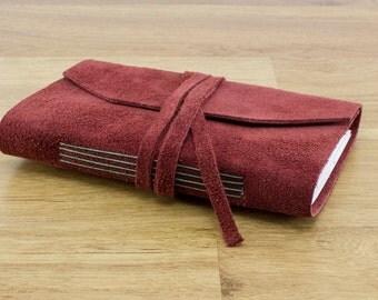 "Handmade Leather Journal Sketchbook 4"" x 6"" #082"