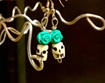 bone hand carved earrings