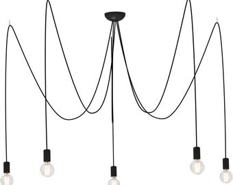 Pendant lamp SPIN 5 bulbs