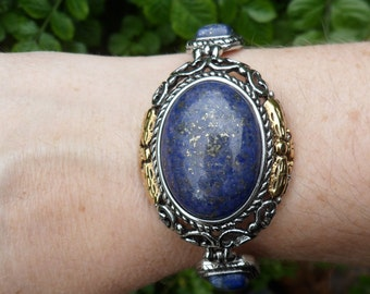 Lapis Lazuli Surgical Stainless Steel Bracelet