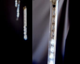 Battery Operated Led Meteor Snowfall Light Tubes - White - LE025-WH