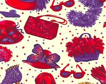 Red Hat Society Red Hat Hot Mama or Confetti Coordinate - Sold by the Fat Quarter or 1/4 Linear Yard, 100% Quilt Shop Quality Cotton