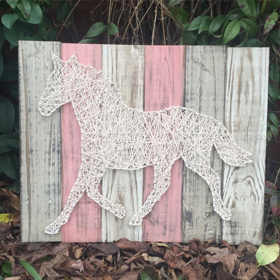 Plank Board Horse String Art Rustic Home By