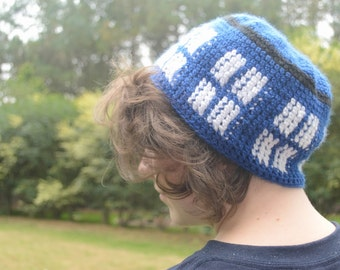 Tardis Crochet Beanie