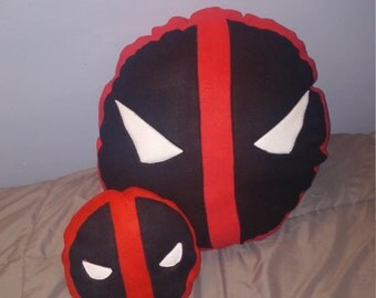 "XL 21"" diameter Deadpool Pillow. Custom sizes availiable"