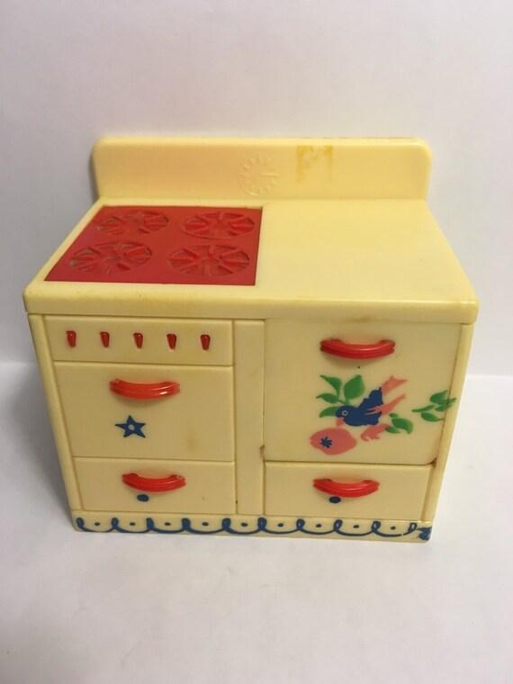 Renwal Stenciled Kitchen Stovevintage Dollhouse Furniture