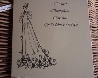 To my daughter on her wedding day , Wedding card, wedding day card, Daughter card, wedding cards, Daughter,